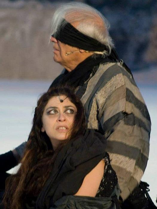 In scena con Giorgio Albertazzi per Edipo a Colono 2009